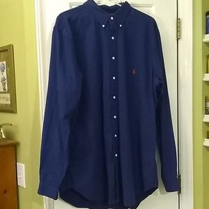 Ralph Lauren 2XLT Blue button-down shirt #R040T